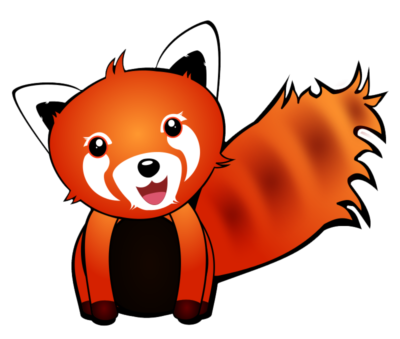 Drawn red panda transparent Clip Domain Public Panda Clip