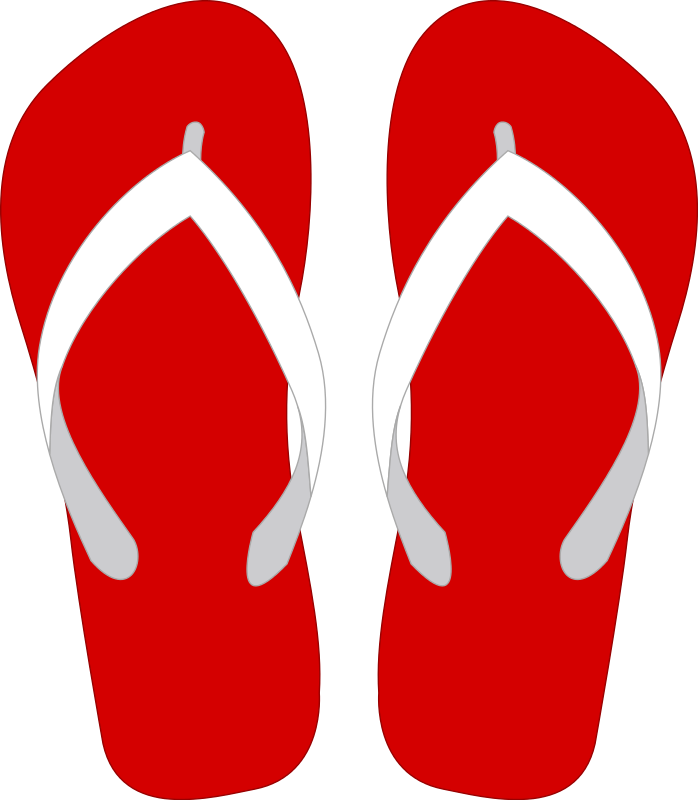 Shoe clipart flip flops #5