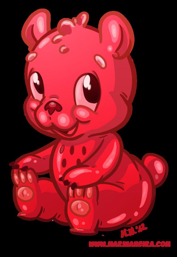 Red clipart gummy bear Drawing bear Gummy Drawing Gummy