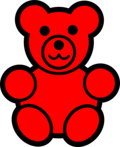 Teddy clipart gummy bear Clip royalty Art Red