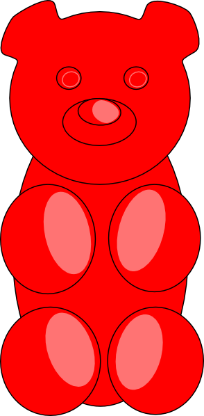 Red clipart gummy bear Art at clip image Clip