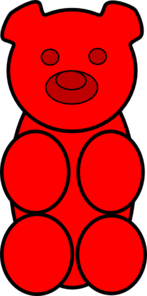 Red clipart gummy bear At Clker art Clip Art
