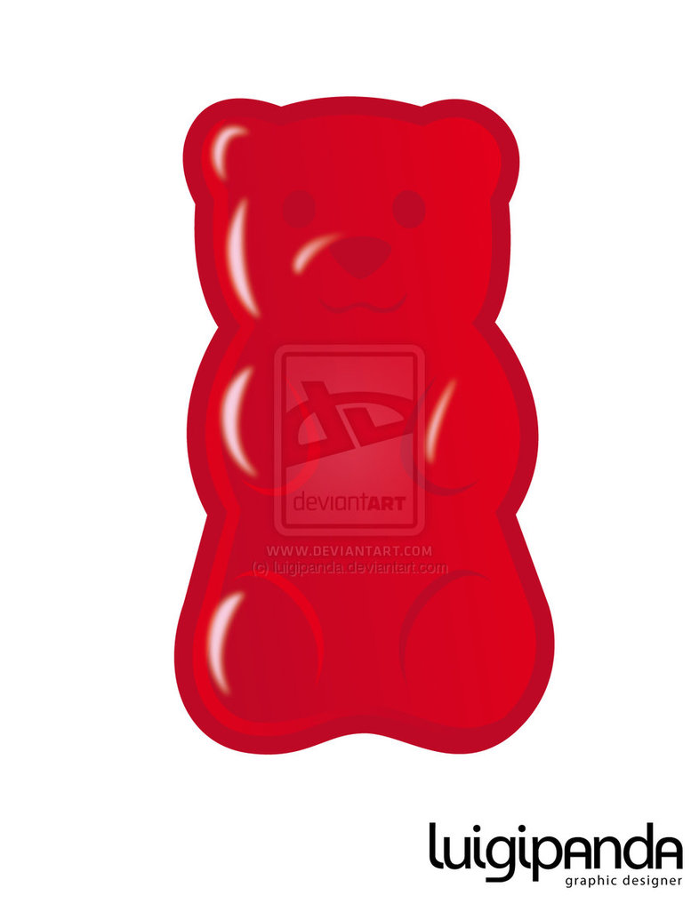 Red clipart gummy bear Bear Gummy  Drawing Candy