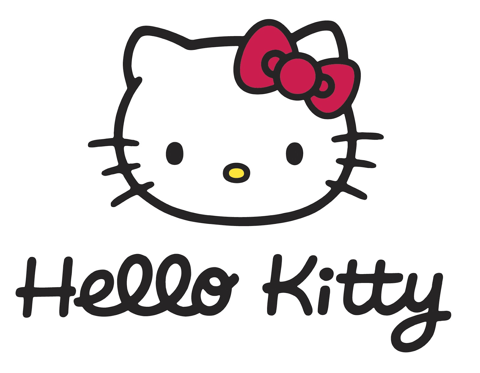 Hello! clipart face  Outline Bow With Kitty