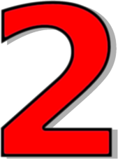 Red clipart number 2 #13