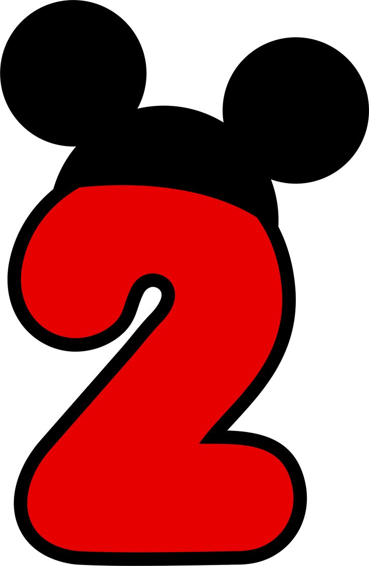 Red clipart number 2 #14