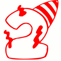 Red clipart number 2 #10