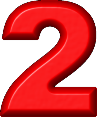 Red clipart number 2 #7