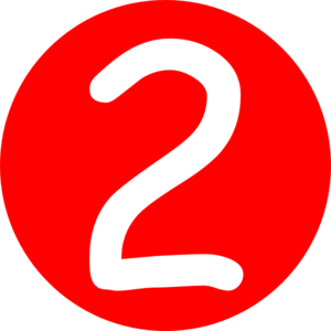 Red clipart number 2 #8