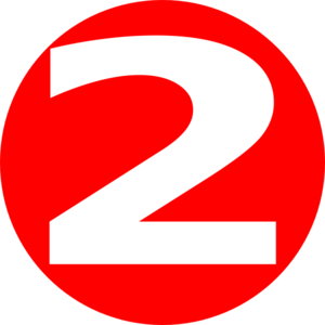 Red clipart number 2 #6