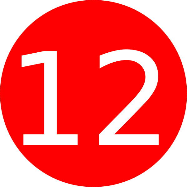 Red clipart number 2 #2