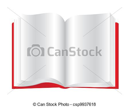 Red clipart open book #9
