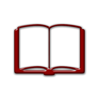 Red clipart open book #11