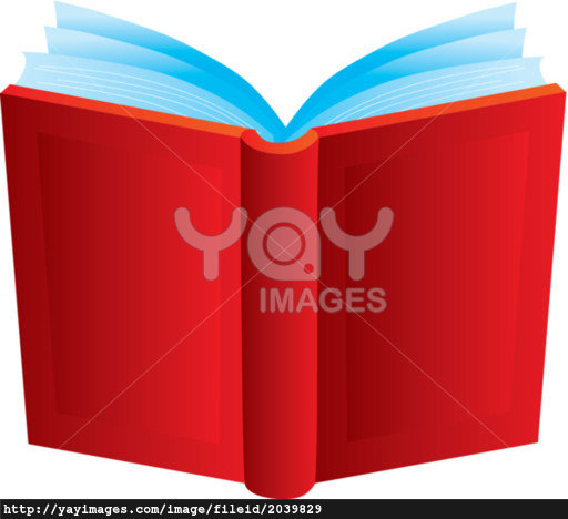Red clipart open book #13