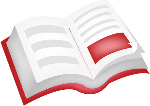 Red clipart open book #15