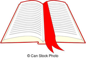 Red clipart open book #14