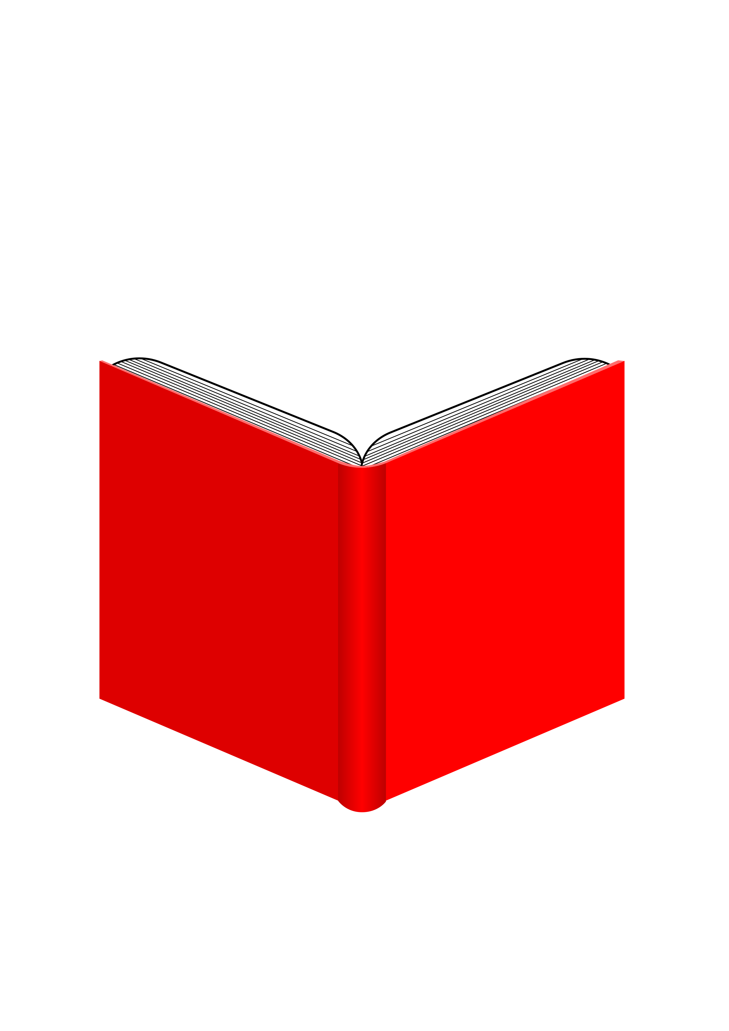 Red clipart open book #12