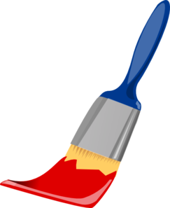 Color clipart paintbrush Paint Brush Red Clip And