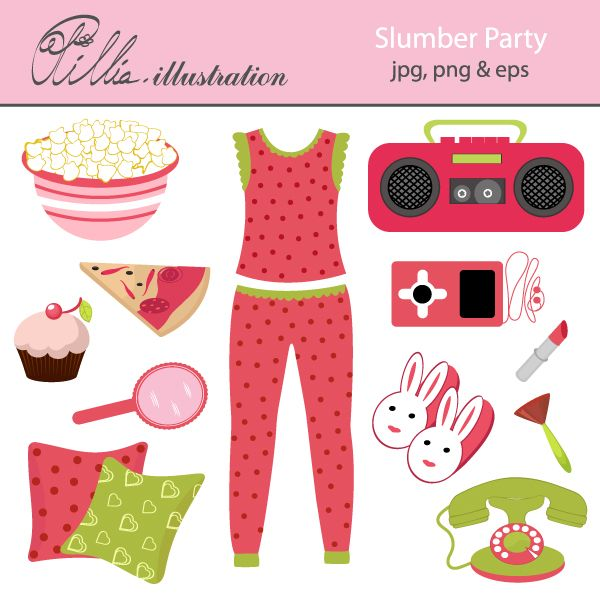 Red clipart pajama #13