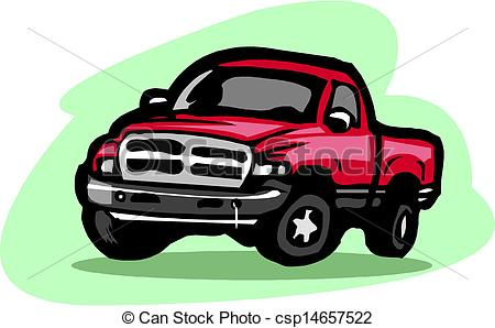 Red clipart pick up truck #15