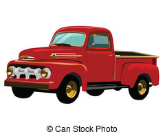Red clipart pick up truck #13
