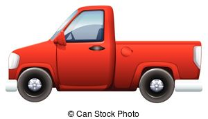 Red clipart pick up truck #14
