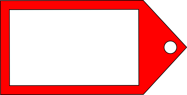 Red clipart price tag #3