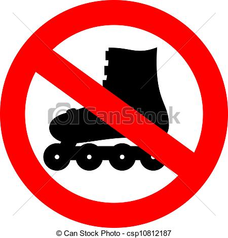 Red clipart roller skate #4