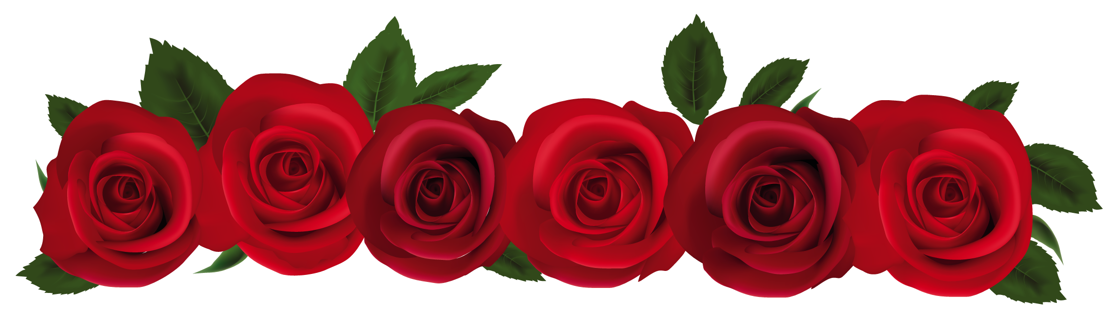 Red Flower clipart rose border #10