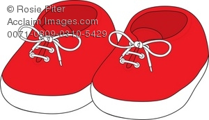 Red clipart running shoe A Pair Baby Royalty Clipart