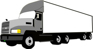 Red clipart semi truck #8