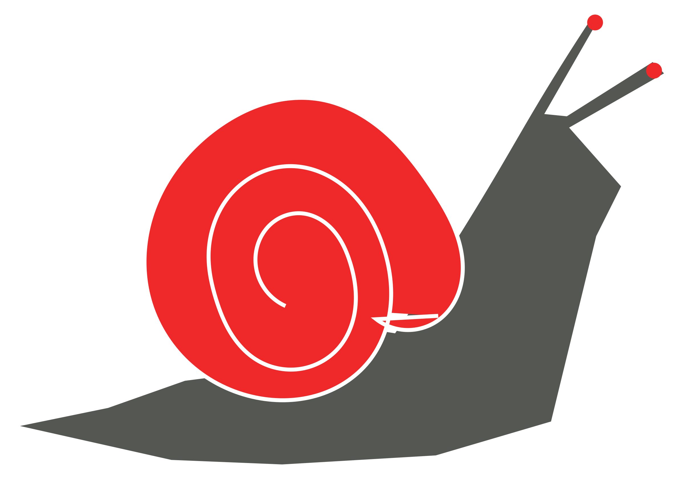 Red clipart snail #9
