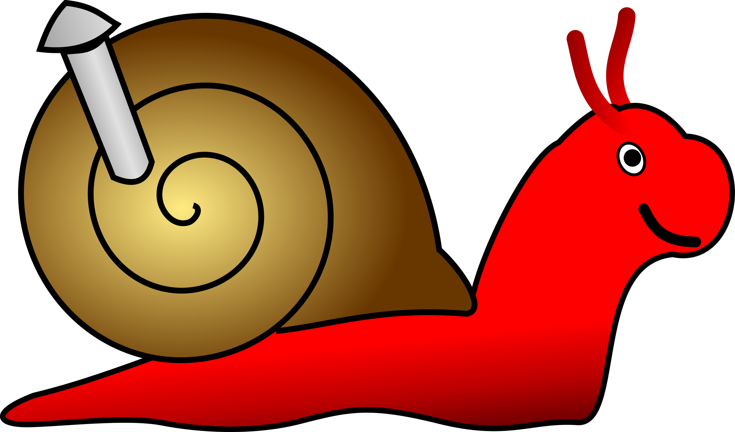 Red clipart snail #8