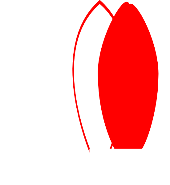 Red clipart surfboard #10
