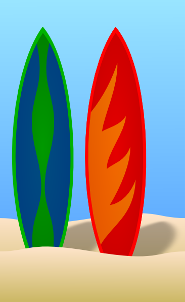 Red clipart surfboard #14