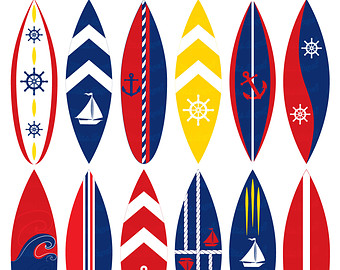 Red clipart surfboard #9