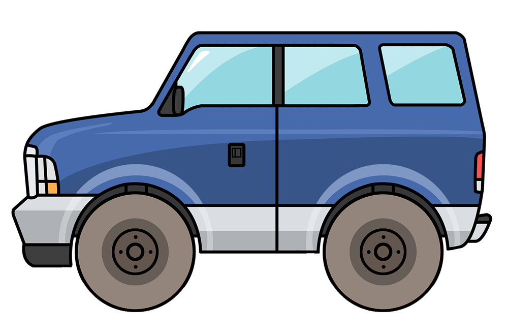 Red clipart suv #7