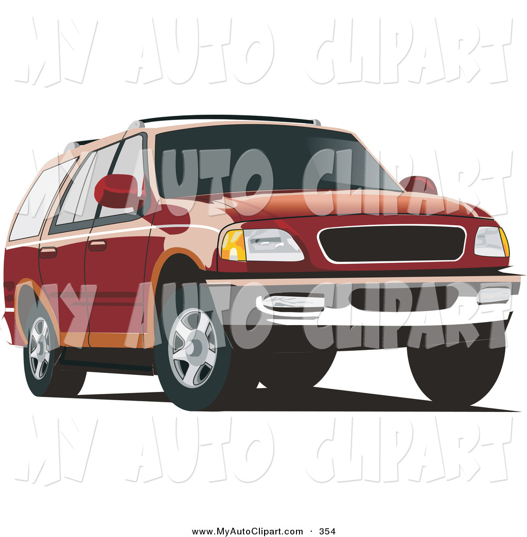 Red clipart suv #9