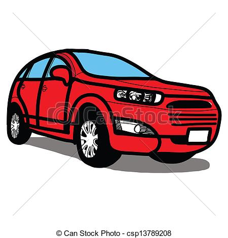 Red clipart suv #4
