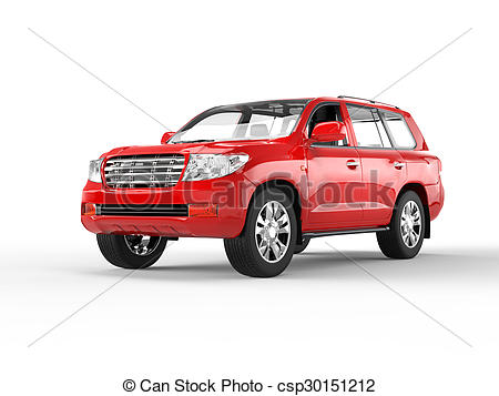 Red clipart suv #6