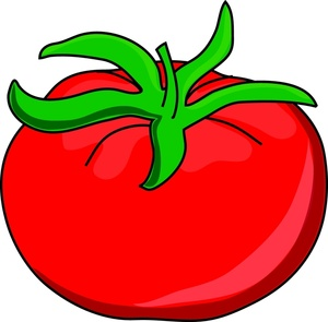 Red clipart tomato #12