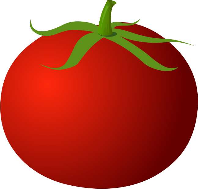 Red clipart tomato #13