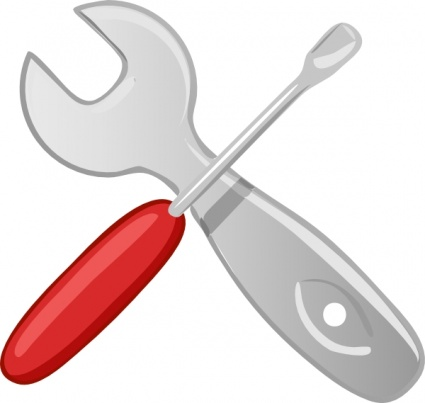 Red clipart wrench #7