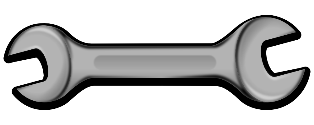 Red clipart wrench #4