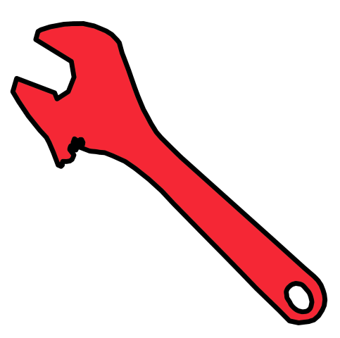 Red clipart wrench #6