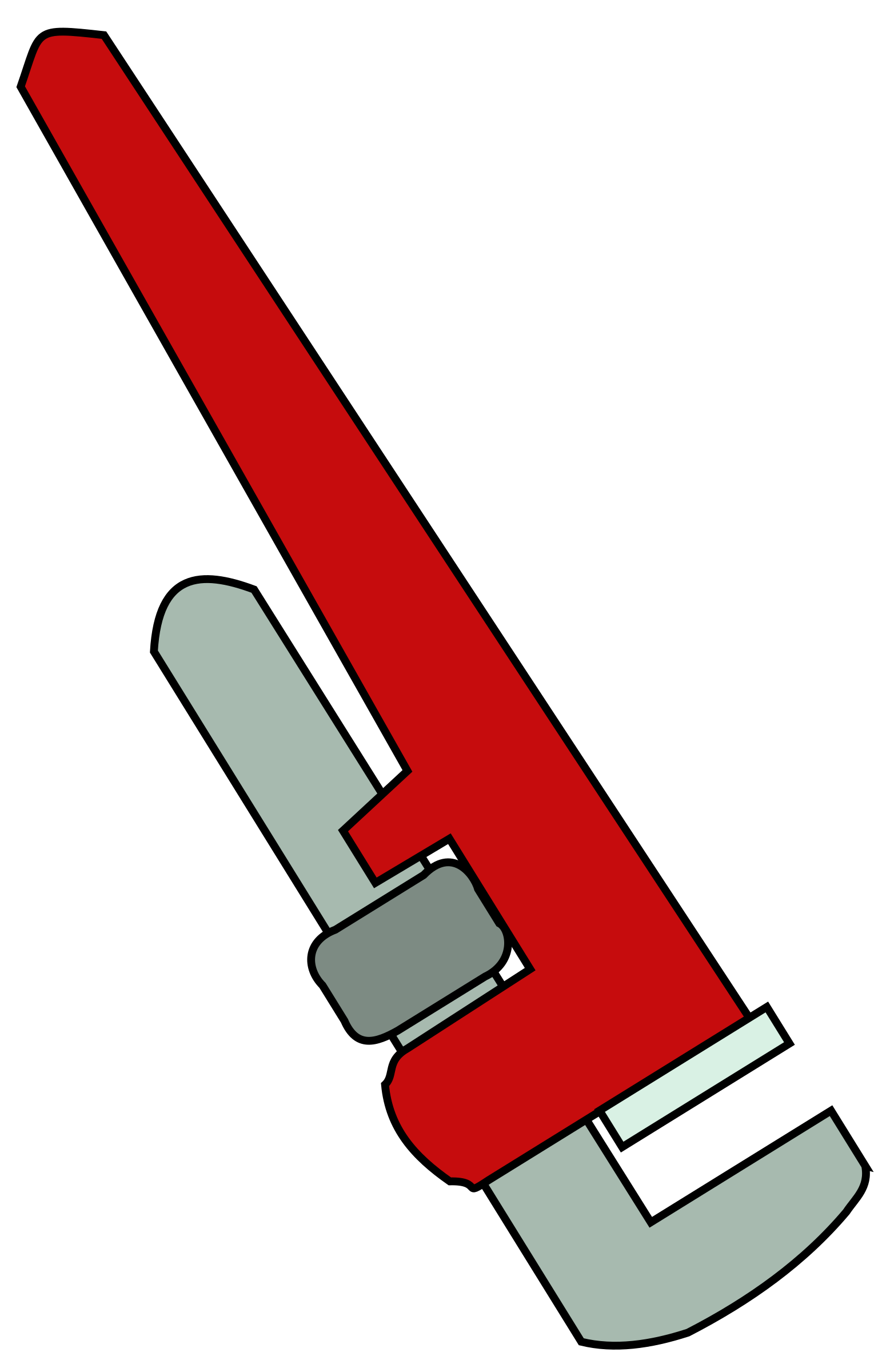 Red clipart wrench #3