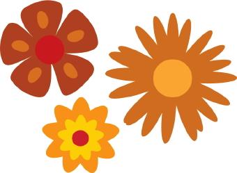Petal clipart one flower Flowers clip Three art art