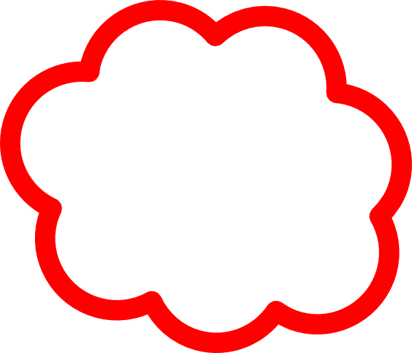 Red Cloud clipart Art Cloud clip royalty at