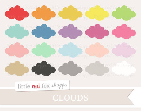 Red Cloud clipart Yellow Cloud Clipart #8