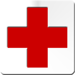 Red Cross clipart allowed Background white Red image white